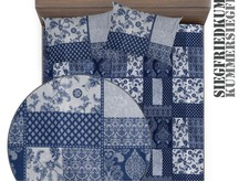 Набор текстиля Blue patchwork